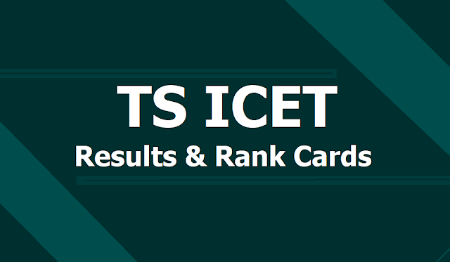 TS ICET 2019 Results, Rank Cards at icet.tsche.ac.in