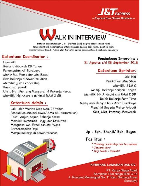 Lowongan Kerja J&T Express Surabaya