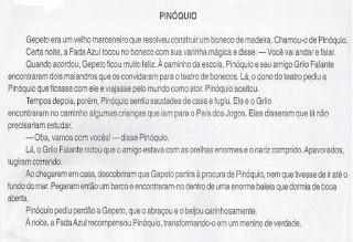 História de Pinóquio