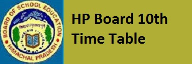 HP Board 10th Time Table