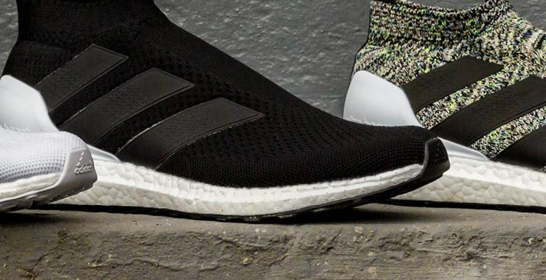 online store 242b2 b2274 Today sees Adidas launch not just one but three new Adidas Ace 16+  Purecontrol Ultra Boost sneakers, with subtle black and white renditions  accompanying the ...
