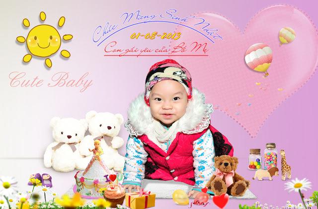 PSD Mẫu phông nền baby