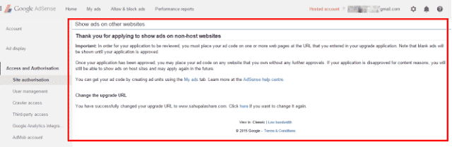 Cara Upgrade Google Adsense Hosted Ke Non Hosted di Blogger Cepat dan Mudah
