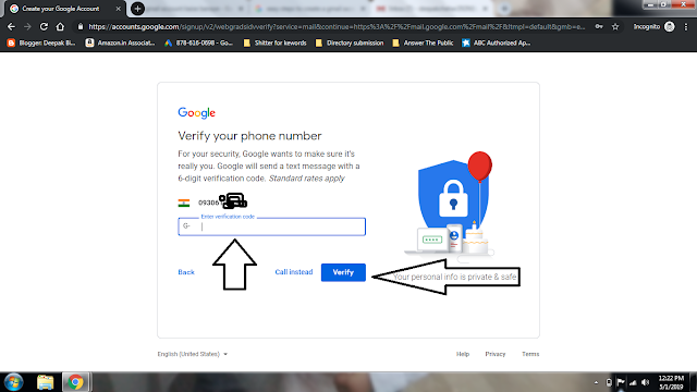 how to create a gmail account in hindi