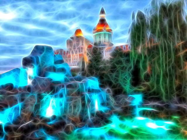 Красивые открытки бесплатно для вас от p_i_r_a_n_y_a Волшебный замок в голубых горах фрактал