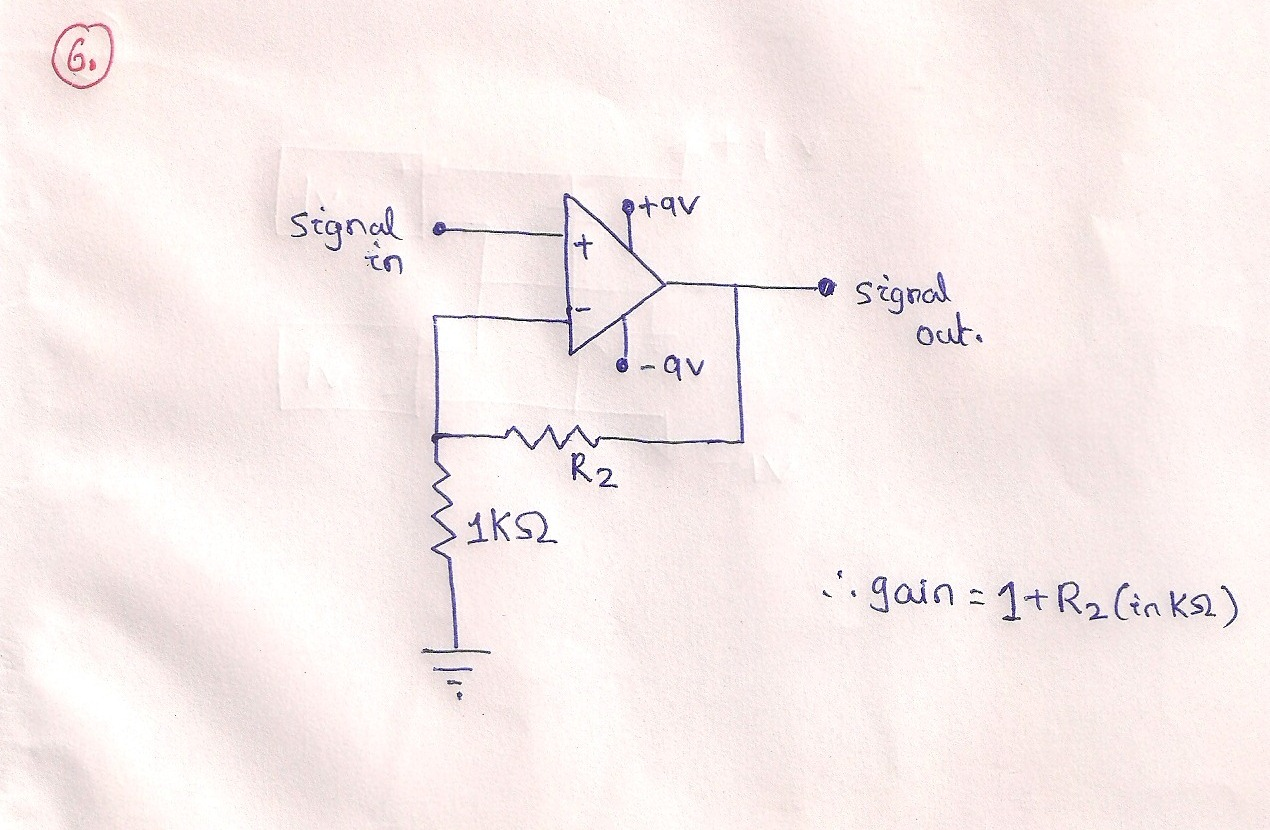 Electronics Engineering For Gate And Ies Basic Op Amp Circuits Circuit Non Inverting Lm324