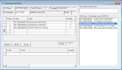 Download Source Code Aplikasi Perpustakaan VB 6.0 - Database Access