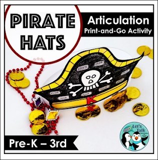 https://www.teacherspayteachers.com/Product/Pirate-Hats-for-SpeechLanguage-Therapy-2746209