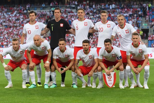 Formación de Polonia ante Chile, amistoso disputado el 8 de junio de 2018