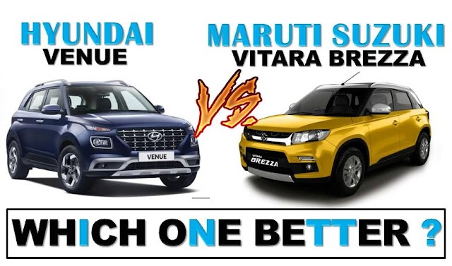 Hyundai Venue Vs Vitara Brezza Details Comparison In Hindi