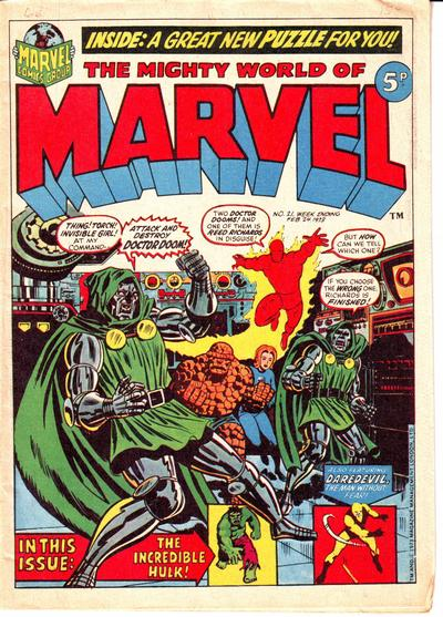Mighty World of Marvel #21, Jim Starlin cover