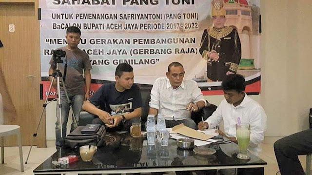 Pemuda dan Mahasiswa Aceh Jaya Deklarasi Sahabat Pang Toni