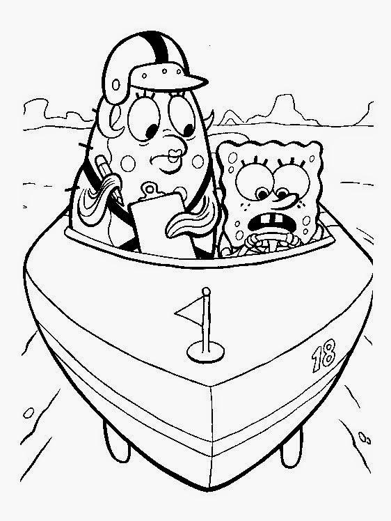 Kids Under 7 Spongebob Squarepants Coloring Pages