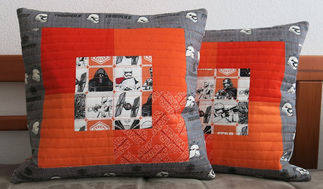 Star Wars quilted cushions - The Force Awakens collection by Camelot Fabrics