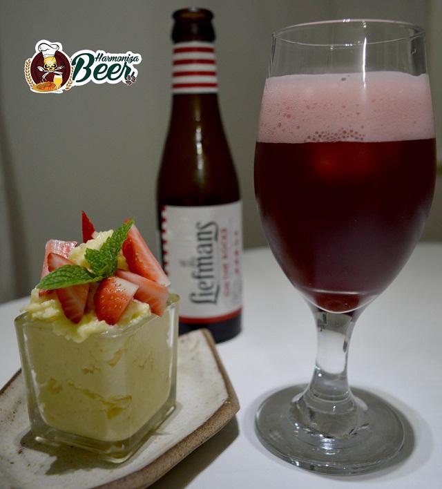 Cerveja Liefmans harmonizada com mousse de chocolate branco