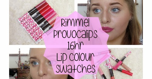 Coat Of Cosmetics Rimmel Provocalips 16Hr Lip Colour Swatches-5277