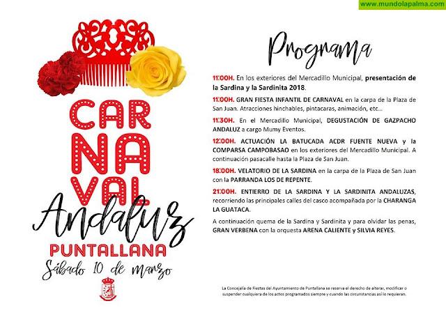Programa Carnaval Andaluz en Puntallana