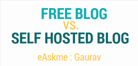 Free Blog Vs Self Hosted Blog Infographic : eAskme