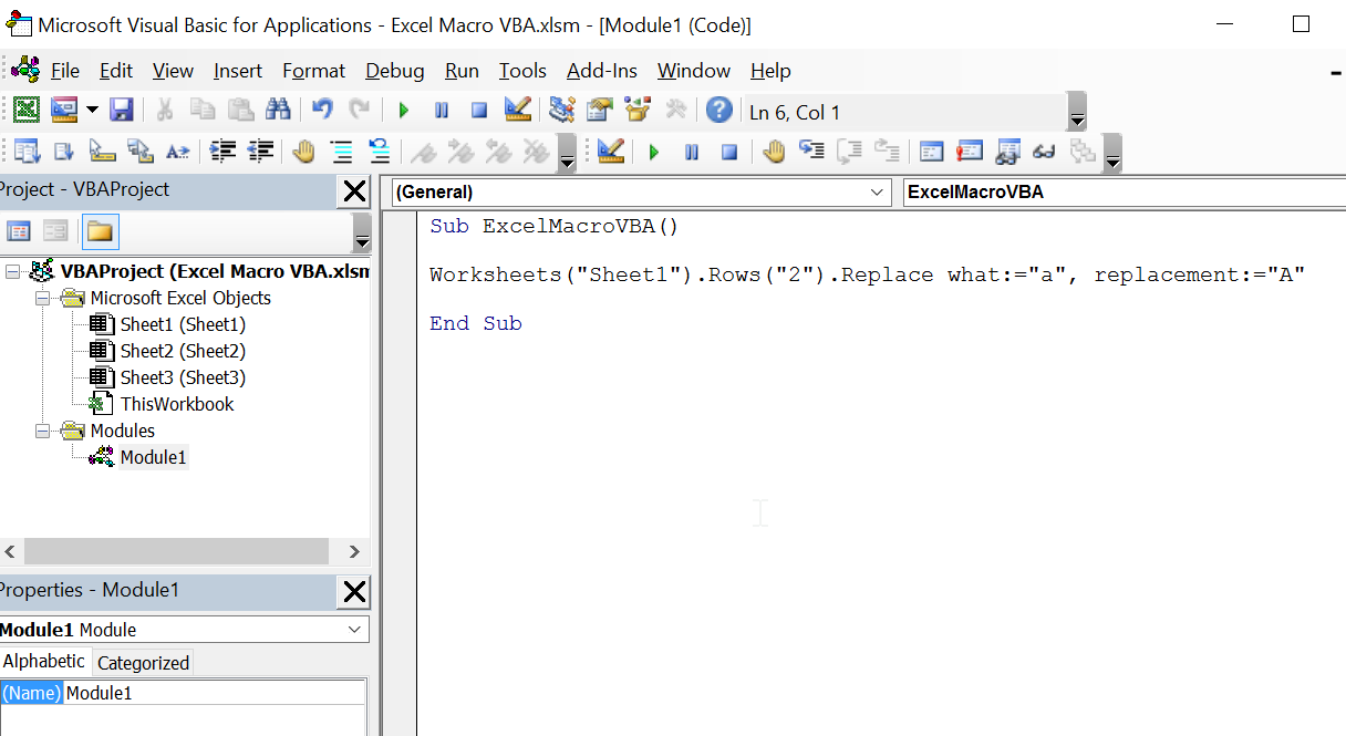 Excel Macro VBA: Excel Macro - VBA - Exercise 01