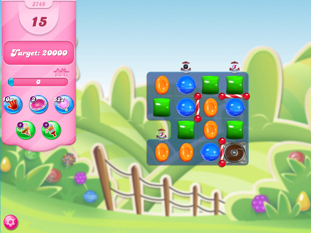 Candy Crush Saga level 3749