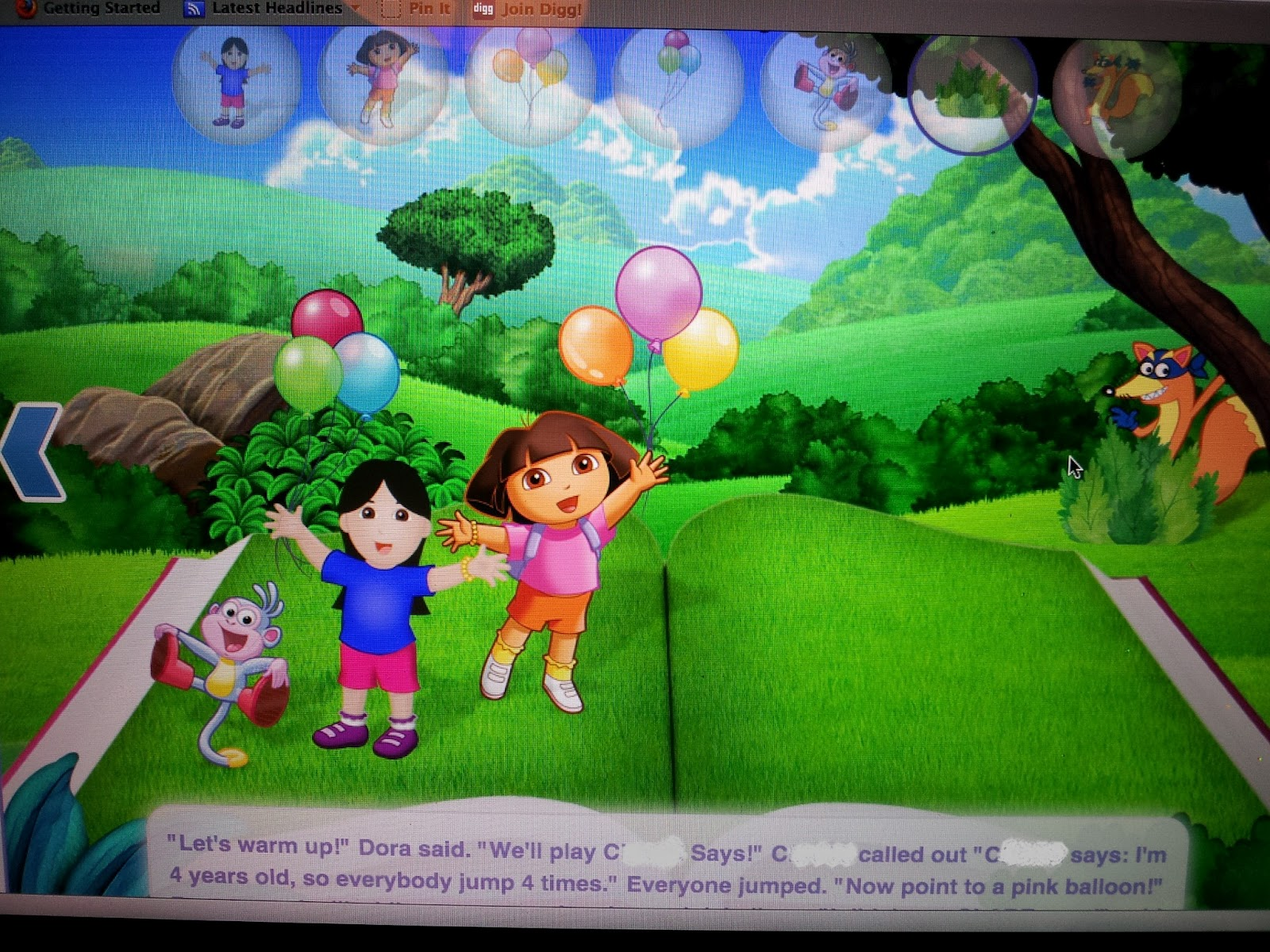 9264fd57e638f Dora the Explorer and Dora Digital Story Book - Product Review ...