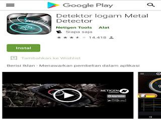 Aplikasi Metal Detector mudah digunakan untuk mengetahui kandungan logam