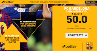 betfair supercuota Barcelona gana a Espanyol 8 diciembre