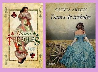 portadas del libro Dama de tréboles, de Olivia Ardey
