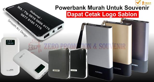 Powerbank Murah Untuk Souvenir Dapat Cetak Logo Sablon