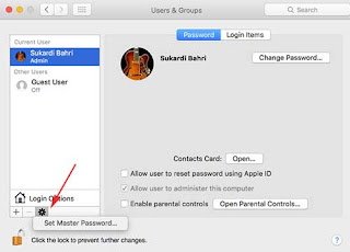 Setting Password User Root macOS High Sierra melalui System Preferences