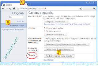 colocar tema padrao no Google chrome
