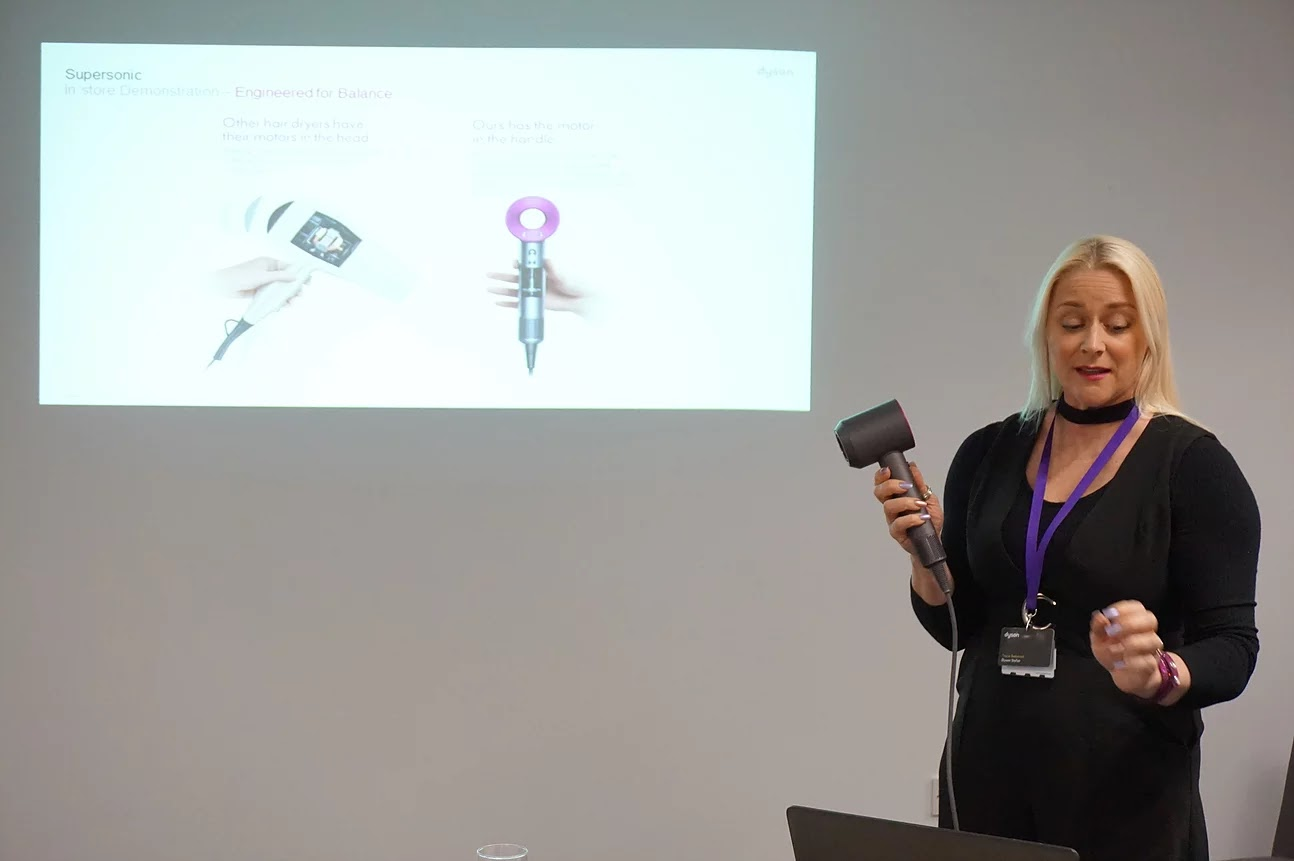 Dyson Supersonic presentation by Tracie Bedwood