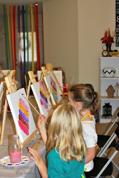 Art Birthday Party Ideas Girls