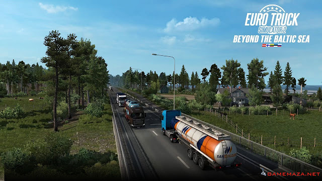 Euro Truck Simulator 2: Beyond The Baltic Sea Gameplay Screenshot 1