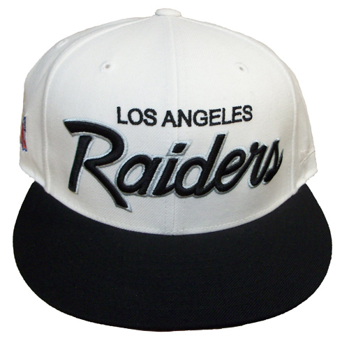 21e3d762932 Rock-N-Jocks just got in stock these Custom Los Angeles Raiders Mitchell    Ness fitteds. Both are N.W.A. style inspired back in the day old school  Raiders ...