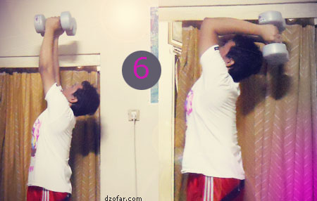 Gerakan Dumbbell Barbell 6