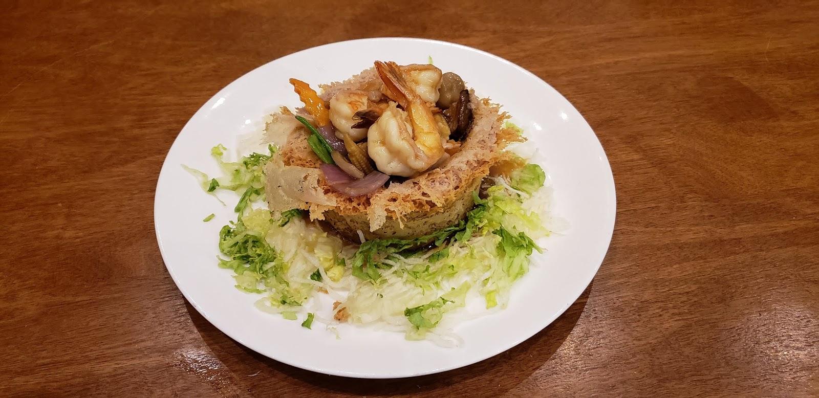 Chicken & Shrimp in Taro Nest