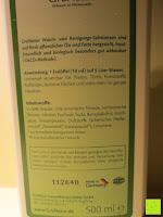 Inhaltsstoffe: GrüNatur Gesundheitsapotheke - Blitz Blank Allzweck-Reiniger (Zitrone)