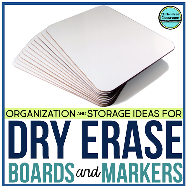 Make sure to grab these organization and storage ideas for dry erase boards and markers. These free and simple organizing ideas will help you organize white boards and white board markers on a budget using cheap crates, bins, and boxes.