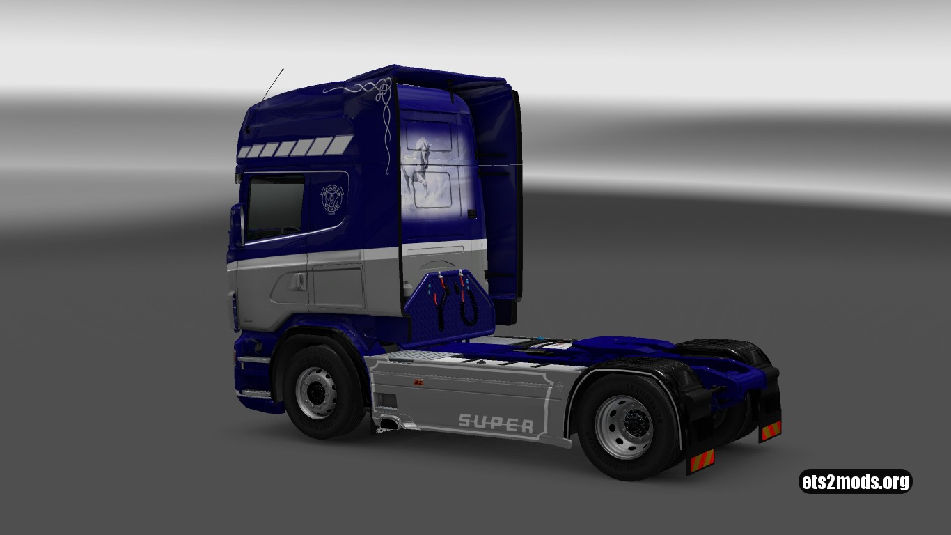 Thermo Transit Blue Skin for Scania RJL