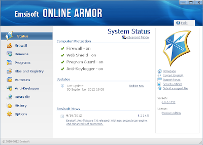 تحميل برنامج Emsisoft Online Armor 6 لحماية جهازك من التجسس