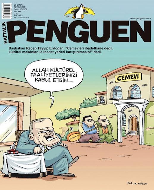 Penguen Dergisi   28 Şubat 2013 Kapak Karikatürü
