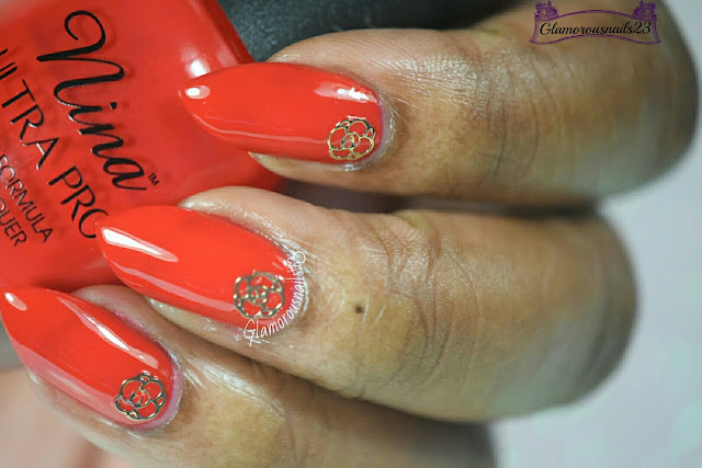 Lady Queen Pentagram Flower Nail Art Decoration Review