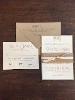 rustic amg design co wedding invitation on recycled paper