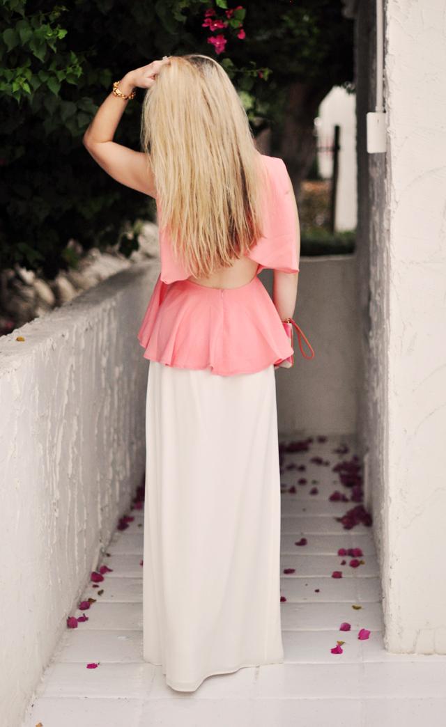 eaddffc1455 Peach Peplum Top Dressed up & Casual | ...love Maegan