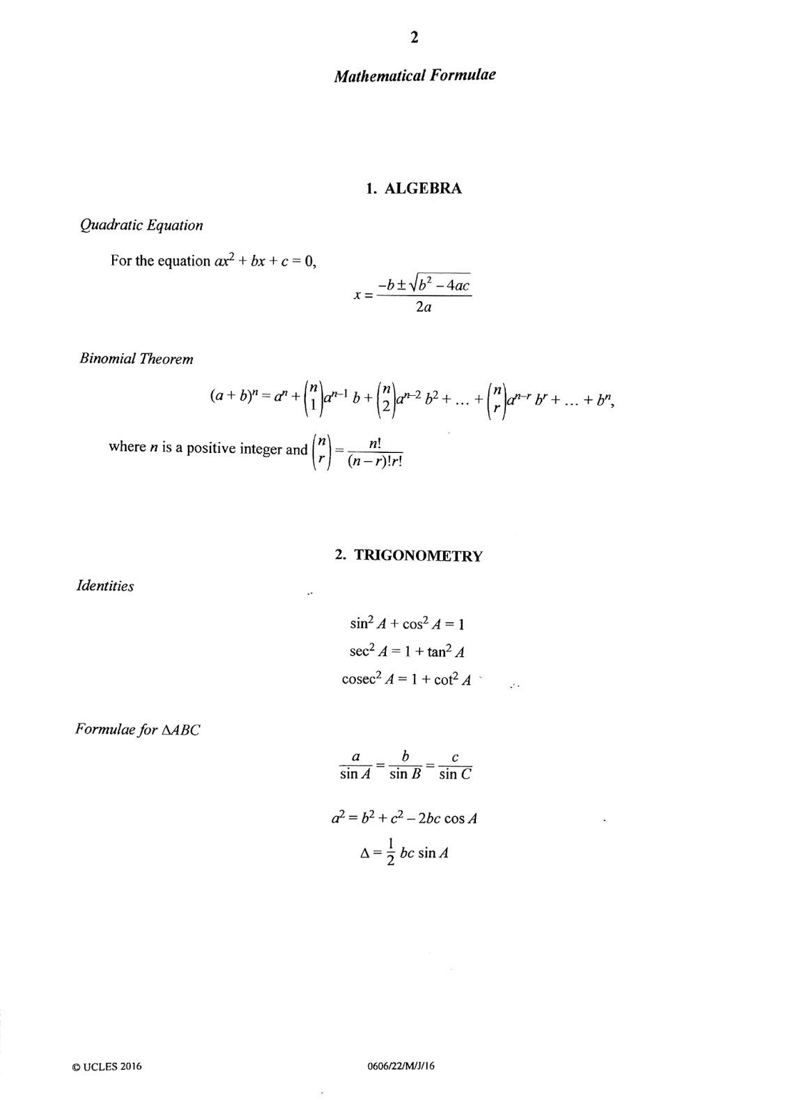 Igcse Add Maths Working Answers 22 Paper 2 May June