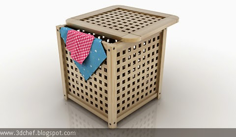 laundry basket 3d model free