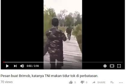 Tak Terima Dianggap Makan dan Tidur, Anggota TNI di Perbatasan Kirim Pesan Tegas untuk Brimob
