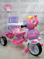 2 Sepeda Roda Tiga Wimcycle Elephant dengan Musik dan Kanopi