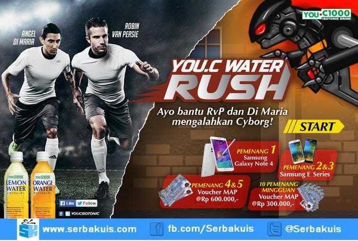 Game You C Water Rush Berhadiah SAMSUNG Galaxy Note 4